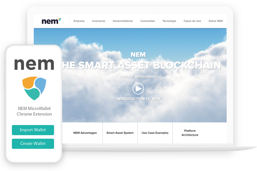 NEM Web Screenshot